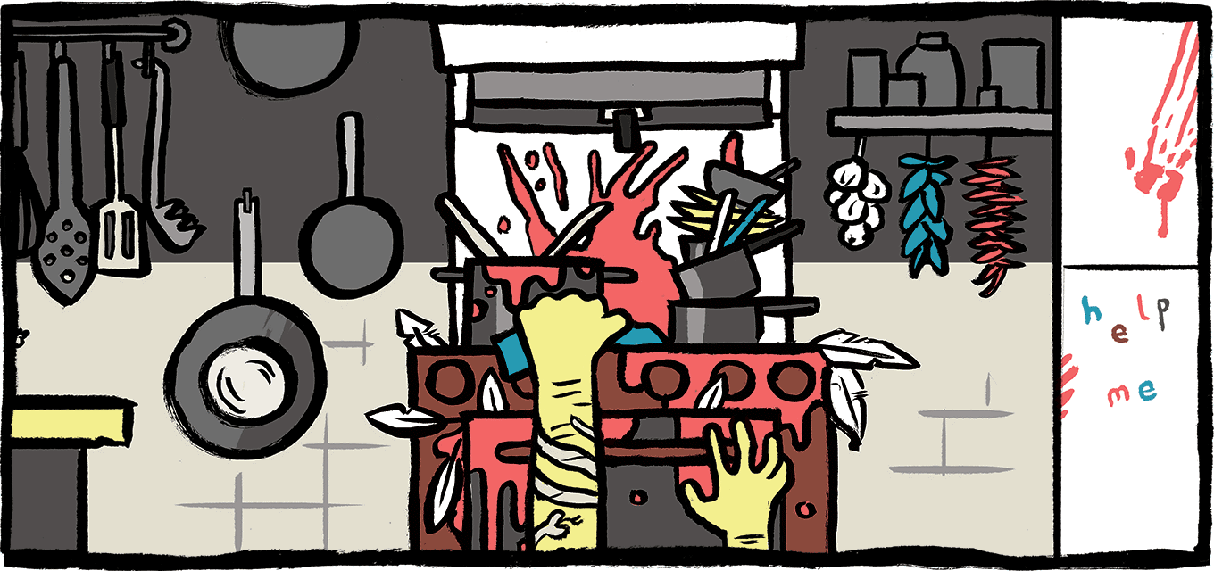 Illustration of dirty oven