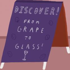 Wine shop A-board