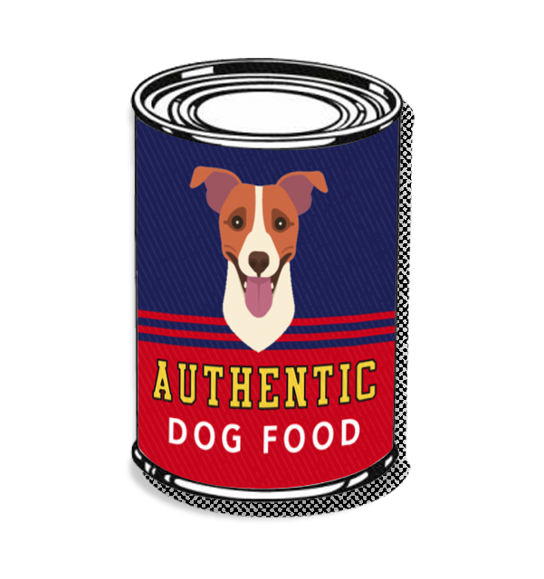Authentic dog food illustration