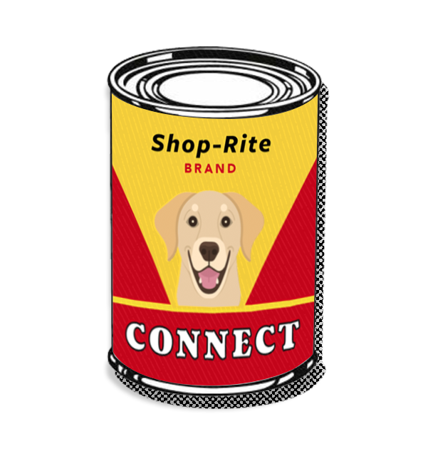 Connect dog food illustration