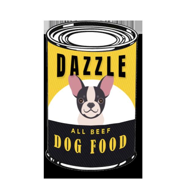 Dazzle dog food illustration