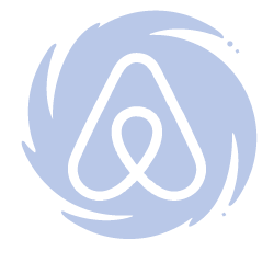 Air BNB logo on hurricane symbol