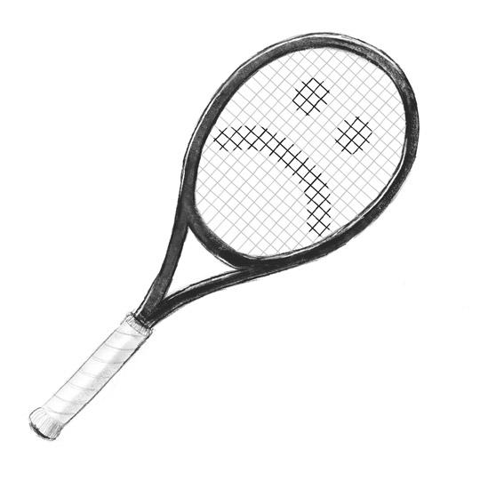 Sad tennis racket
